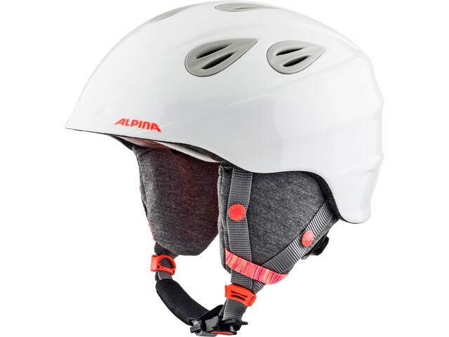 Alpina Grap 2.0 Casco de esquí Niños, white-flame